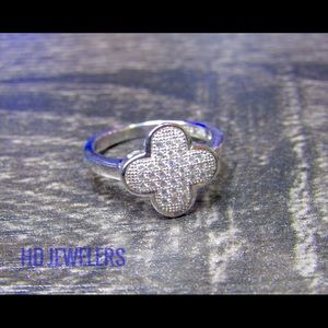 Jewelry - Solid 925 Sterling Silver Four Leaf Clover Ring